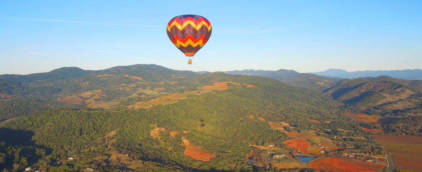Best Hot Air Balloon Rides Flying over San Francisco and Napa Valley