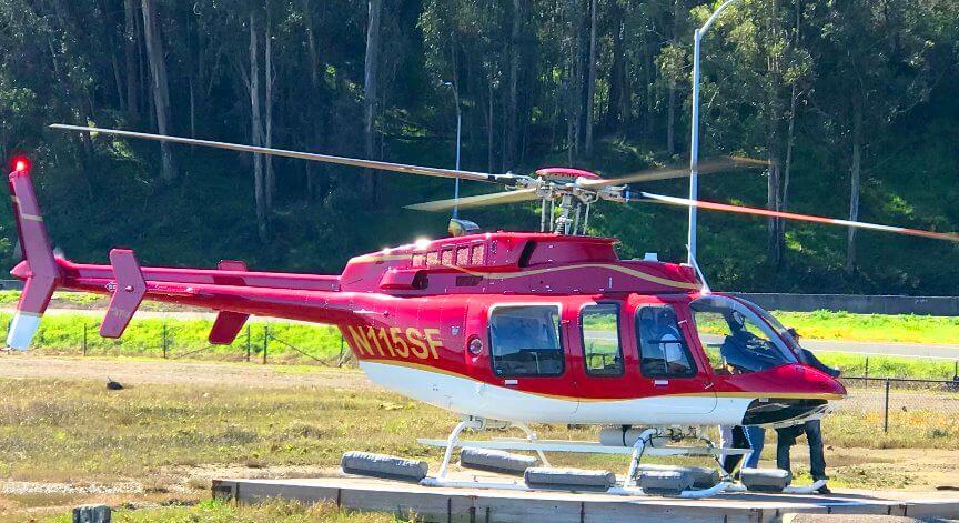 サンフランシスコベイエリアの水上飛行機の空の旅とサウサリートとゴールデンゲートブリッジのヘリコプター飛行