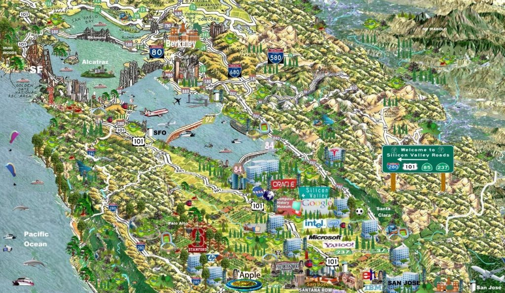 Map-of-Silicon-Valley-Map-tech-companies-road-maps-x--x