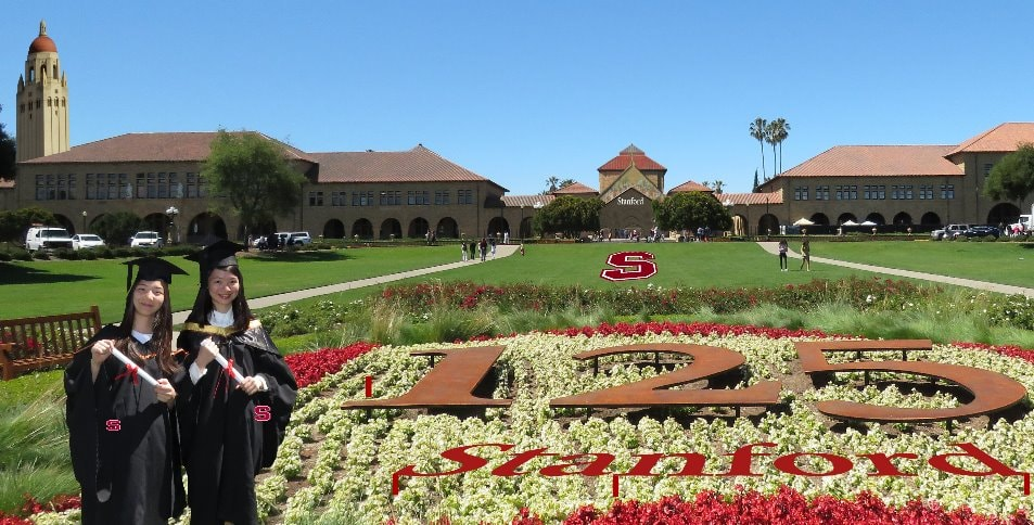 Students-tour-Stanford-university-campus-map-