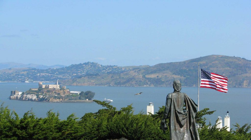 Views-of-Alcatraz-island-sightseeing-from-Coit-tower-telegraph-hill-x--x
