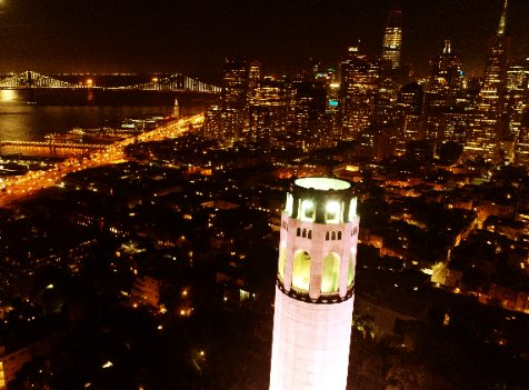 night tour of San Francisco city with Alcatraz